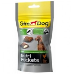 Джимпет Nutri Pockets 509624 соб Shiny д/шерсти 45г