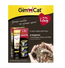 АКЦИЯ Gimpet Malt-soft Extra 100г + 3 консервы ShinyCat filet